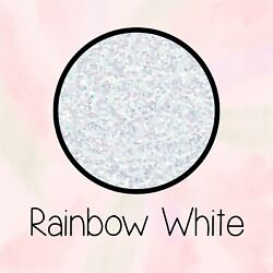 NEW Glitter Heat Transfer Vinyl -RAINBOW WHITE- 10