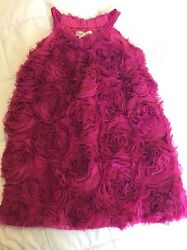 Hala Baloo hot pink floral Party Formal Boutique dress 4t $69 Retail $16.99