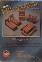 Log Cabin Furniture Kit Doll House Rustic Doll House Store Shop Room New