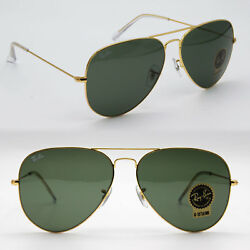 Ray-Ban aviator new sunglasses for men women classic green  gold RB3026 LARGE