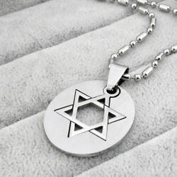 Silver Style Star (Magen) of David - Jewish Rock Chain Necklace Pendant Fancy