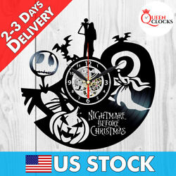 The Nightmare Before Christmas Jack Disney Vinyl Record Wall Clock Decor Gifts $24.99