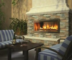 Fire Gear Outdoor gas fireplace natural propane 42 linear modern contemporary