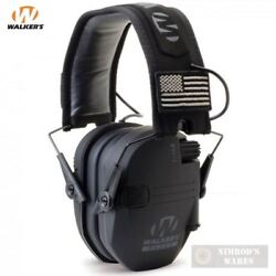 Walker#x27;s RAZOR Slim Ear Muffs PATRIOT 2X Flag Patches GWP RSEMPAT FAST SHIP $47.71