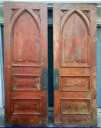 INTERIOR CHURCH DOORS SALVAGE ARCHITECTURAL GOOD CONDITION 96.5