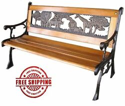 Outdoor Park Bench Backyard Furniture Porch Seating Chair Garden Deck Wood Yard