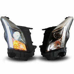 HeadLights HID Xenon Bulb Lights Led DRL Amber Turn For Cadillac ATS 2013-2016