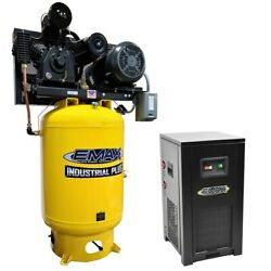EMAX Industrial Plus 15-HP 120-Gallon  Two-Stage Air Compressor w Dryer (208... $6,817.00