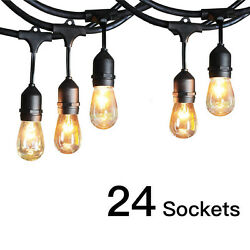 5Pack 48FT Outdoor Waterproof Commercial Grade Patio String Lights Bulbs