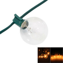 10pck 100 Foot G40 Patio Globe Light String 125 Clear Bulbs Outdoor Use