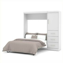 Bestar Nebula 84quot; Full Wall Bed Set with 3 Drawer Set in White $1920.53