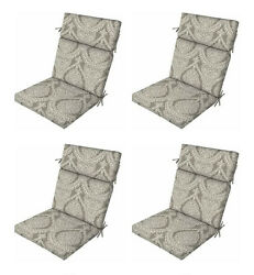 Gray Nonya Patio Chair Cushions Set of 4 Outdoor Replacement Seats Pads