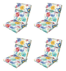 Flora Patio Chair Cushions Set of 4 Outdoor Replacement Seats Pads Furniture