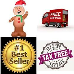 Christmas Characters Gingerbread Man Airblown Inflatable Outdoor Decoration