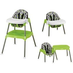 High Chair Convertible Plastic 3 Seating Positions Up To 40Lbs