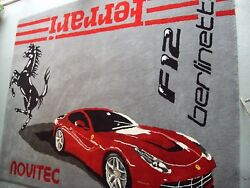 RUG- Red Ferrari- Hand Made To Order Wool Rug