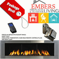 NAPOLEON LHD62 LINEAR GAS FIREPLACE MODERN STAINLESS STEEL DIRECT VENTING KIT