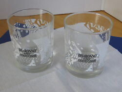 Disaronno Cocktail On the Rocks Glasses Set Of 2 Cavalli Barware Advertising $22.99