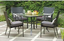 5 Piece Patio Dining Table Chair Set Seats 4 Bistro Lawn Garden Furniture Party