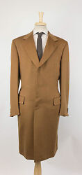 New BRIONI Aniene Brown Cashmere Full Length Coat Size 5444 R $7395