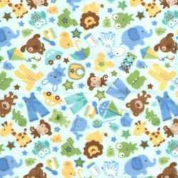 05753 Boys Are Made of Toys Blue - Flannel Fat Quarter