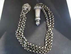 Amazing Antique Beaufort Whistle Chain Lion Button Cover-1900 United Kingdom