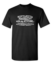 Dont Confuse Attitude Sarcastic Cool Graphic Gift Idea Adult Humor Funny T Shirt $13.59