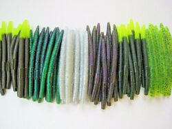 60 pk 5quot; Senko style Soft Plastic Bass Worms 6 Colors 10 Each BRIGHT MULTIPACK $25.95