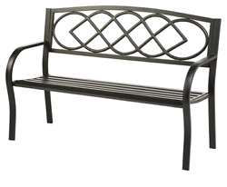 Plow & Hearth Celtic Knot Patio Garden Bench Park Yard Outdoor Furniture Cast a