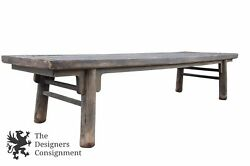 13' Primitive Rustic Distressed Farmhouse Harvest Table Dining Work Country