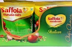 Saffola Masala Oats Italian Chefs Choice 39g x 12 Pack US Seller Multi Pack $17.99