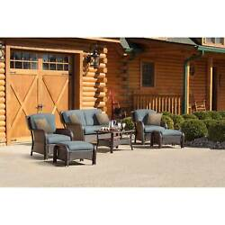 Outdoor Dining Set Patio Lounge Furniture Garden Bistro Table Chairs Deck 6 PCS