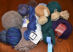 LOT OF WOOL YARN NEW AND USED