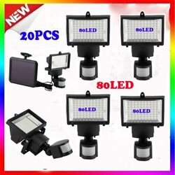 20 X Solar-Powered Motion Sensor Lights Bright Security Outdoor 80 Led White VP
