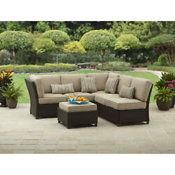 Patio Dining Furniture Set Outdoor Sectional Sofa Bistro Garden Lounge Wicker 1d