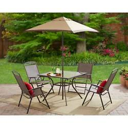 Outdoor Patio Fining Furniture Set Folding Bistro Table Chairs Garden 6 Piece 1d