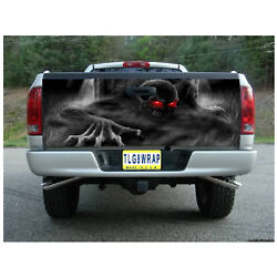 T23 SKELETON SKULL Tailgate Wrap Vinyl Graphic Decal Sticker LAMINATED