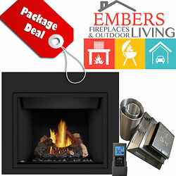 NAPOLEON HD40 DIRECT VENT GAS FIREPLACE 5' VENTING KIT REQUIRED SURROUND REMOTE