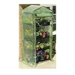 Mini Garden Greenhouse Green Planter Flower House 4 Tray Cover Cold Frame Tier