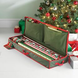 Real Simple Holiday Gift Wrap Under Bed Wrapping Paper Storage Organizer Case