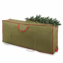 Real Simple Holiday Deluxe Tree Storage Bag with Wheels Christmas Organizer Case