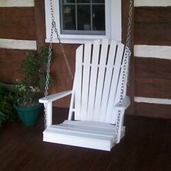 A & L Furniture Adirondack Poly Recycled Plastic 2 ft. Swing Chair