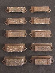 Set of 10 Antique Eastlake Drawer Pulls - 3-14