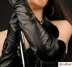 BRAND NEW Black Super Long Leather Opera Gloves BRAND NEW GBP 98.50