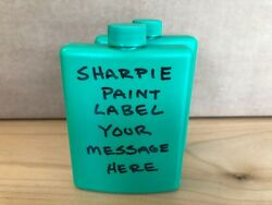 Plastic Alcohol Flask - Customizable - Green - 2 Pack - Free Shipping