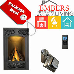 NAPOLEON GD19 VITTORIA GAS FIREPLACE DIREC VENT KIT TRADITION BLACK SURROUND F60