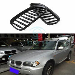 2PCS For BMW Z4 E85 E86 2.0i 2.2i 2.5i 2003-08 matte black Front Grille trim