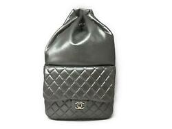 Chanel Quilting Lambskin Leather Backpack Silver 5081