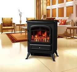 Portable Electric Fire Place With Remote Control Cozy Flame Effect Stove Classic