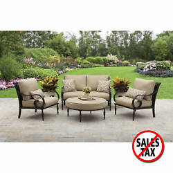 Patio Furniture Dining Set Garden Bistro Outdoor Table Chairs Deck Yard 4 PCS 1d